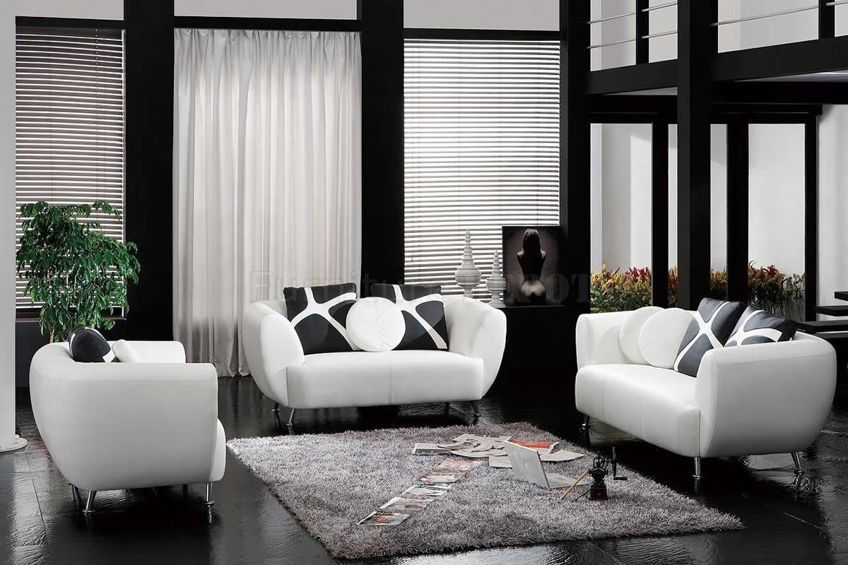 Decorate Living Room Black Leather Furniture – Creditrestore In Sofas Black And White Colors (Image 14 of 20)