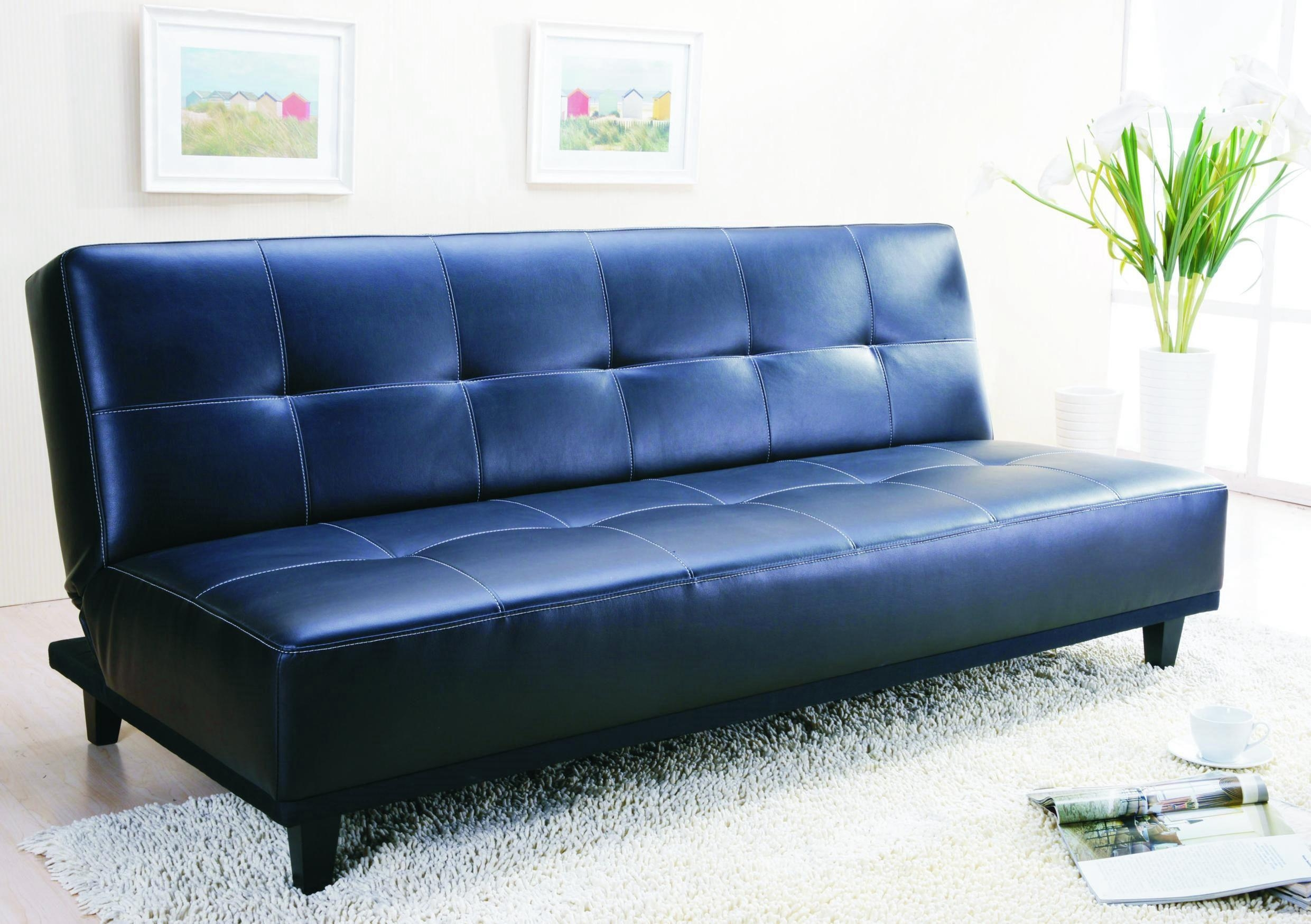 Decorating A Room With Blue Leather Sofa – Traba Homes Regarding Blue Sofa Chairs (Image 11 of 20)