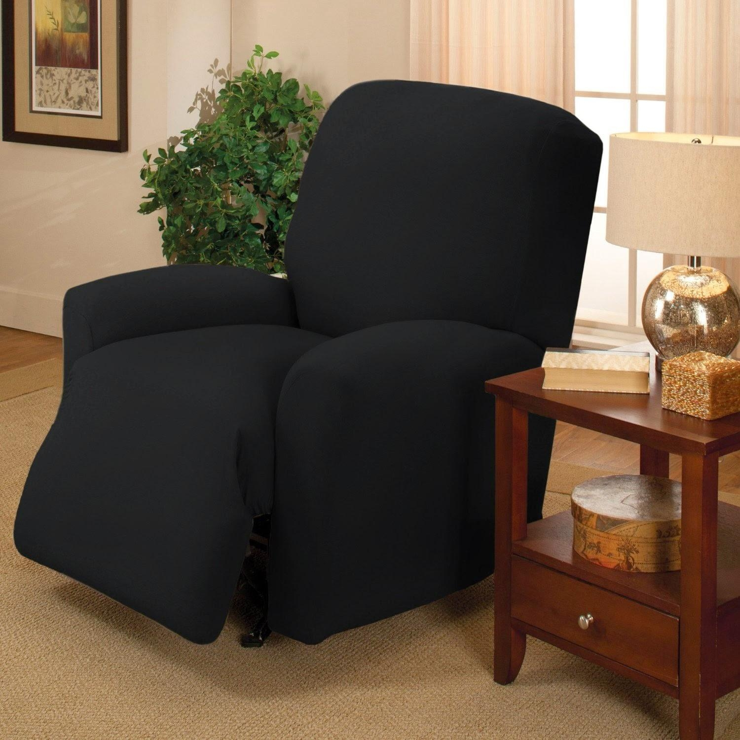 Decorating: Chair Using Leather Walmart Slipcovers For Home Within Black Slipcovers For Sofas (Image 6 of 20)