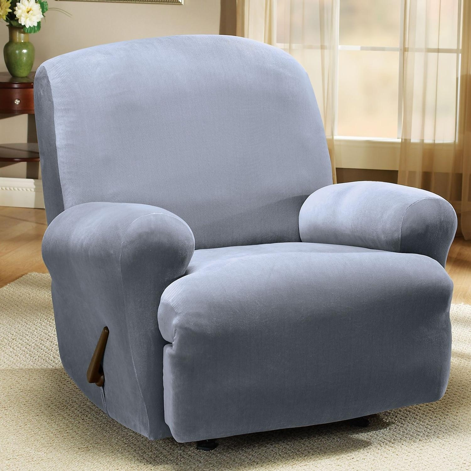 Decorating: Elegant Interior Home Decorating With Comfortable For Stretch Covers For Recliners (Image 5 of 20)