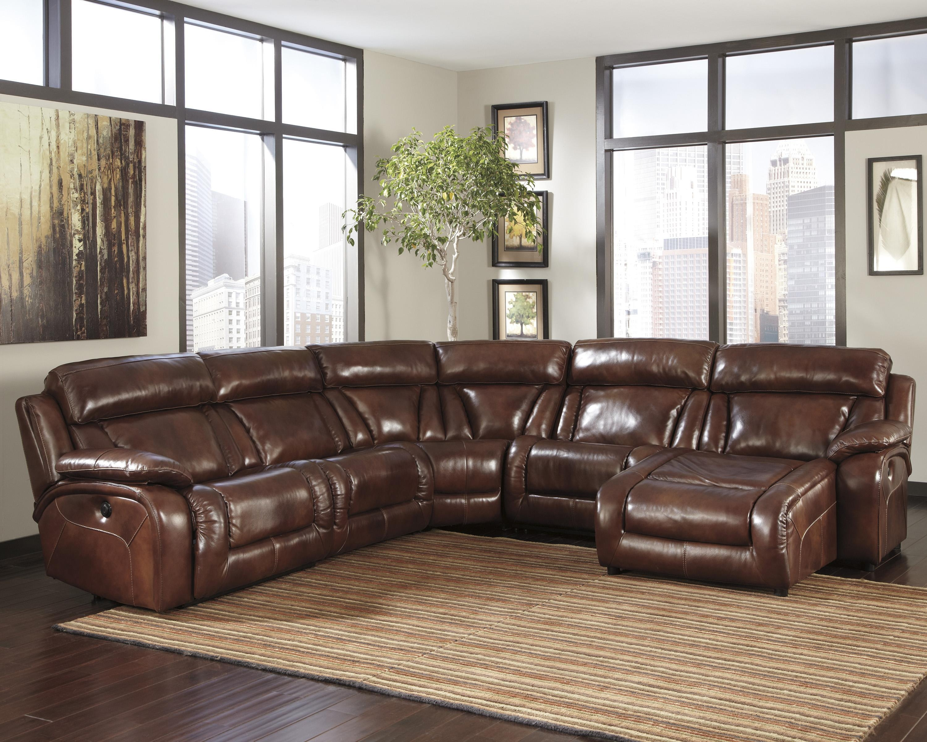 Decorating: Fill Your Living Room With Elegant Ashley Furniture In Ashley Furniture Leather Sectional Sofas (Image 9 of 20)