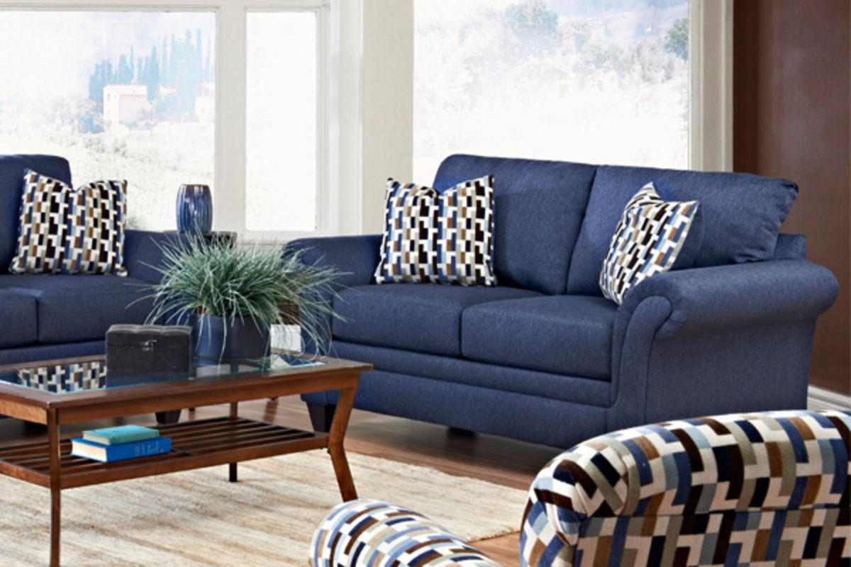 Decorating Ideas For Living Room With Blue Sofa – Creditrestore With Regard To Living Room With Blue Sofas (Image 15 of 20)
