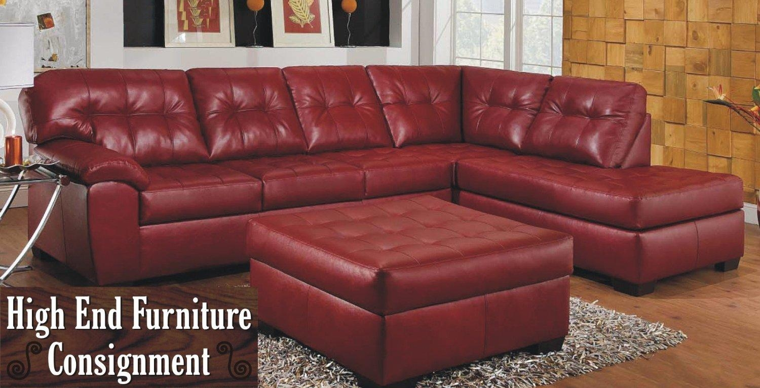 Decorating Ideas: Ultimate Dark Brown Leather Sofa With Brown Throughout Dark Red Leather Couches (Image 9 of 20)