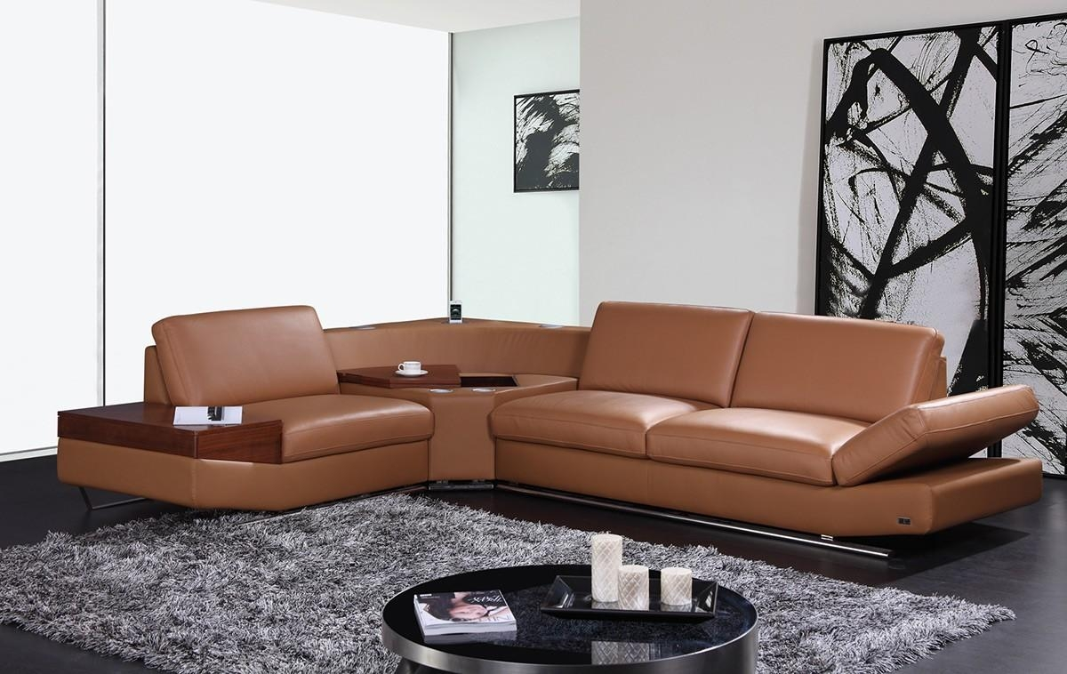 Decorating Living Room Tips With Brown Leather Sofa – La Furniture Intended For Brown Sofas Decorating (Image 9 of 20)