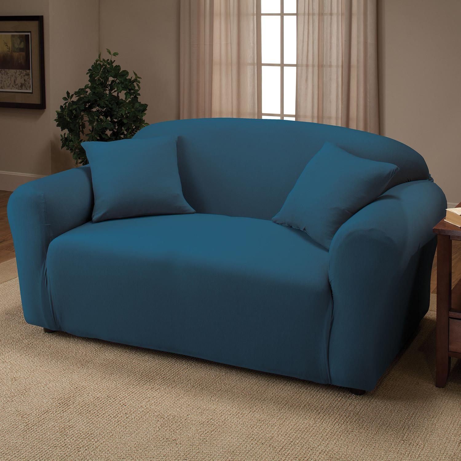 Decorating: Luxury Blue Slipcovers For Sofas With Cushions In Blue Slipcovers (Image 6 of 20)