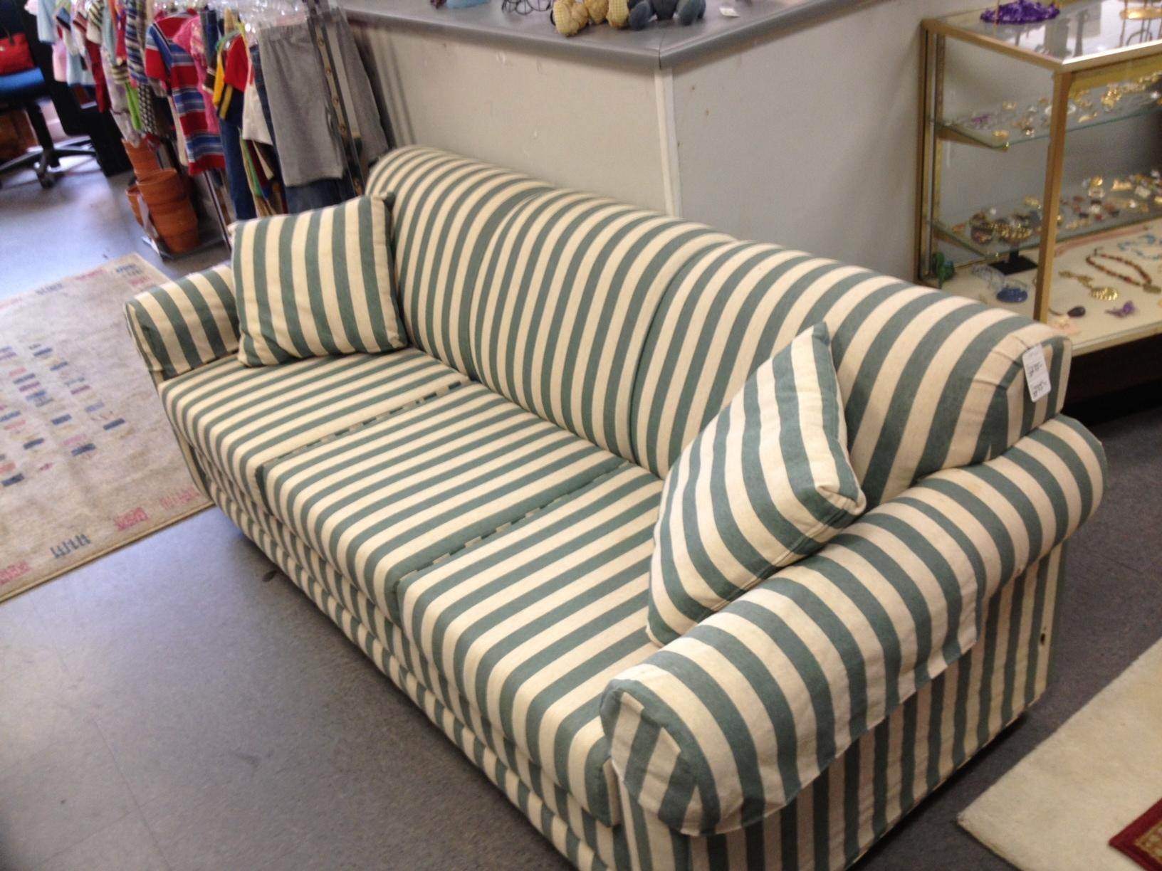 Decorating: Rowe Furniture Slipcovers For Exciting Living Room Inside Blue And White Striped Sofas (Image 12 of 20)