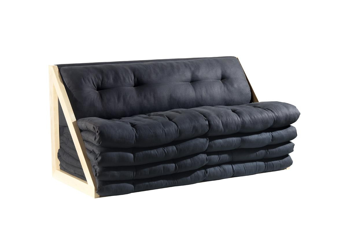 Decoration Ideas: Cozy Dark Grey Velvet Fold Up Couch Sofa Bed In In Fold Up Sofa Chairs (View 9 of 22)
