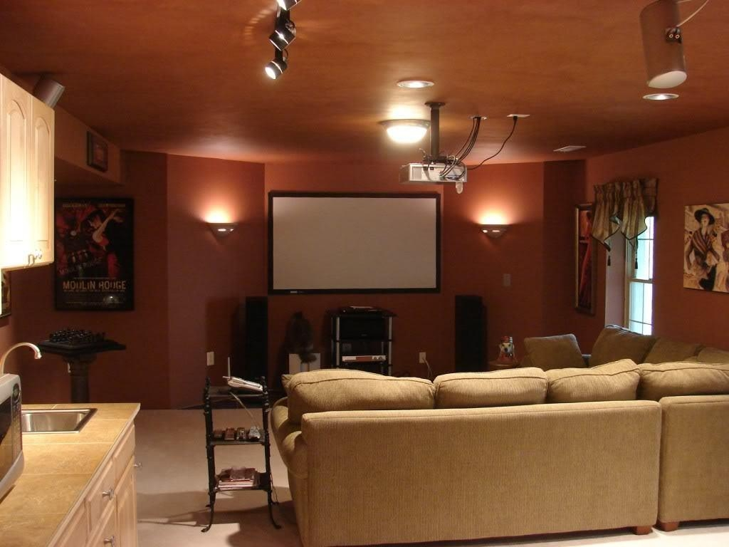 Decorations : Elegant Black White Color Decor Media Room Design Within Media Room Sectional Sofas (Image 4 of 20)