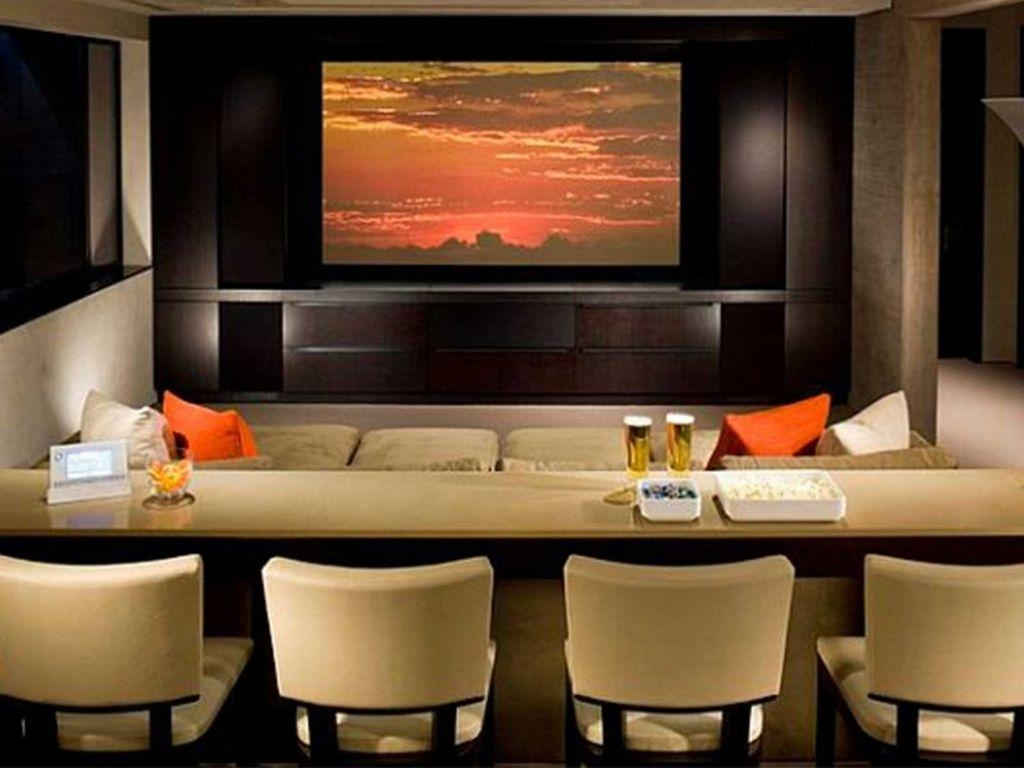 Decorations : Fantastic Small Long Home Theater Room Ideas Black Intended For Theater Room Sofas (Image 5 of 20)