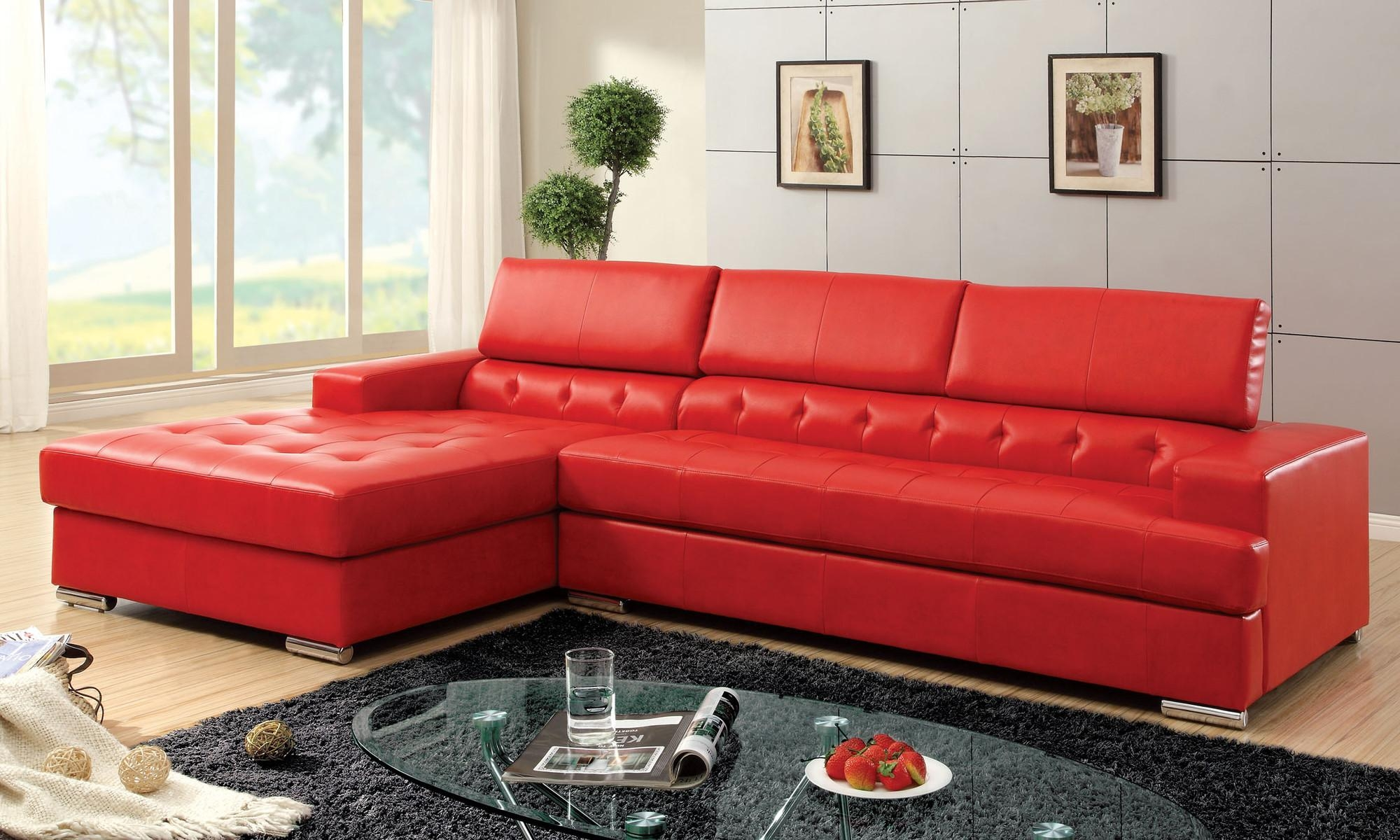 Deep Red Leather Sofa | Tehranmix Decoration Regarding Dark Red Leather Sofas (Image 10 of 20)