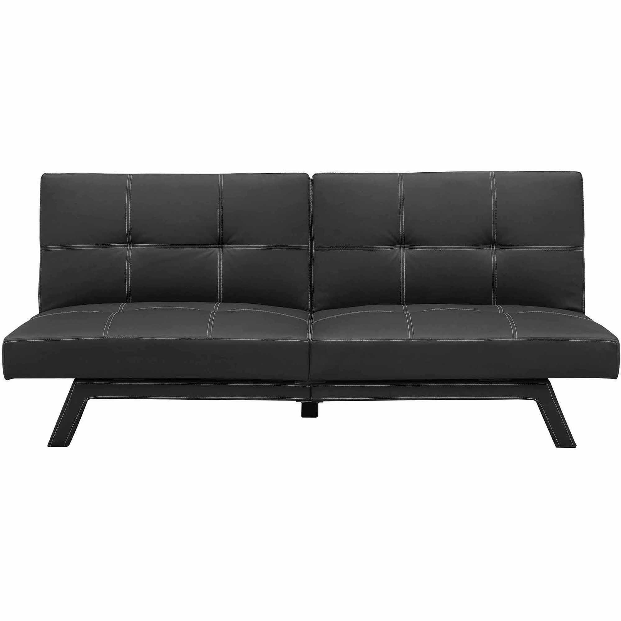 Delaney Split Back Futon Sofa Bed, Multiple Colors – Walmart With Leather Fouton Sofas (Image 7 of 20)