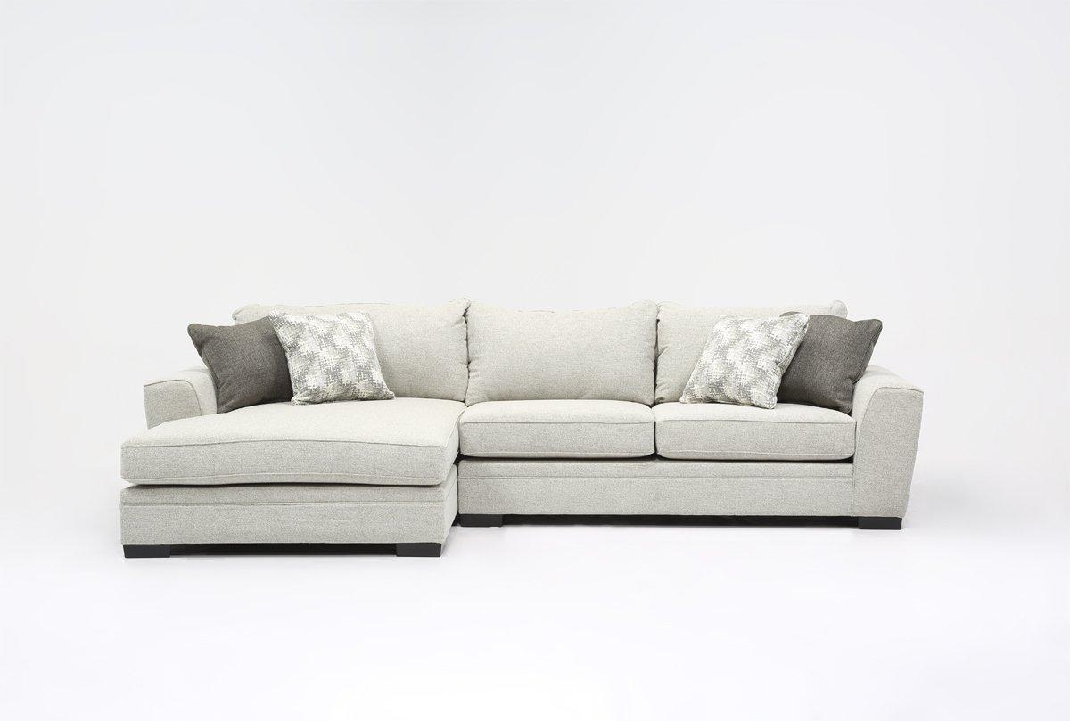 Delano 2 Piece Sectional W/laf Chaise – Living Spaces Regarding Sectional Sofa With 2 Chaises (View 6 of 20)