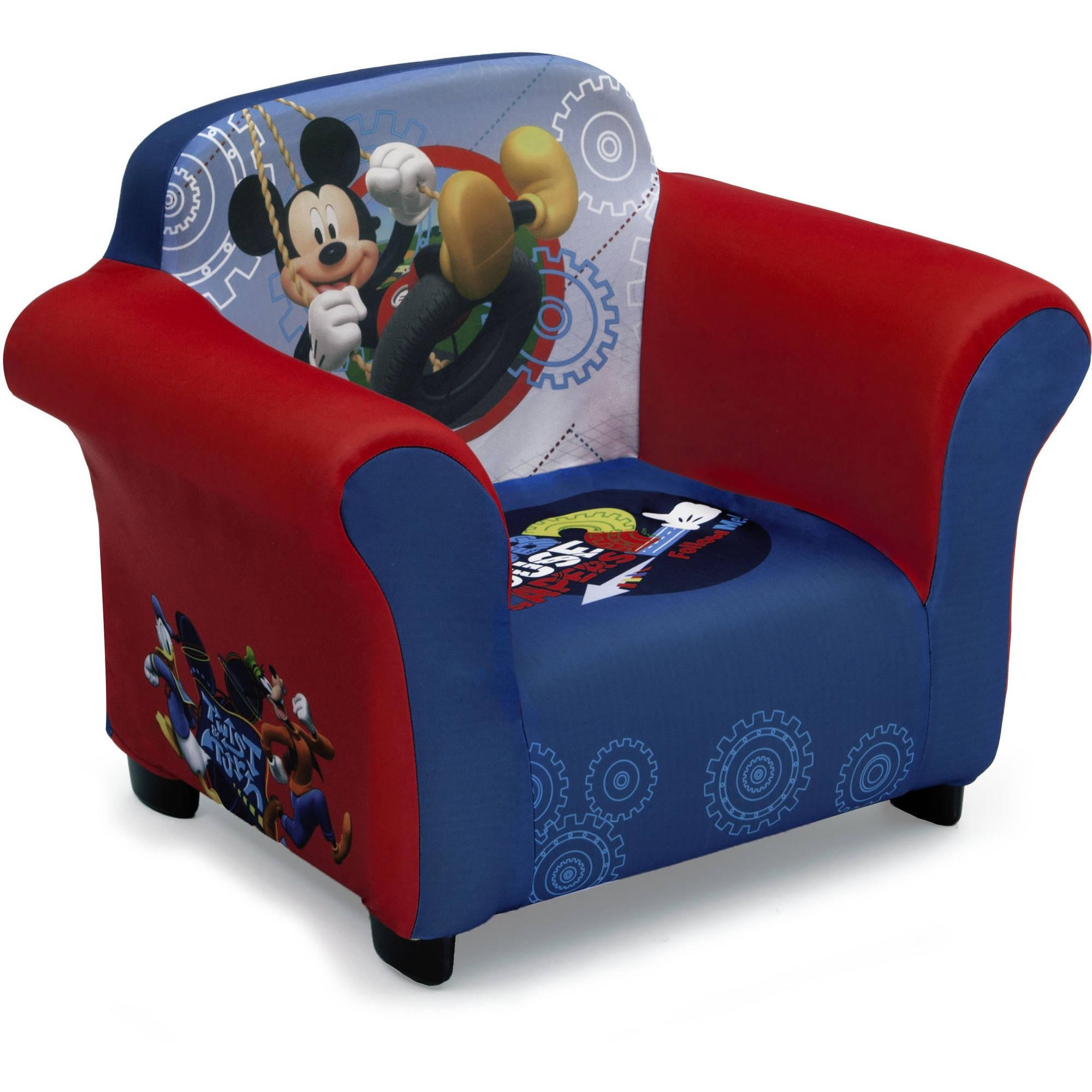 Delta Children Mickey Mouse Upholstered Chair – Walmart Within Mickey Mouse Clubhouse Couches (View 9 of 20)