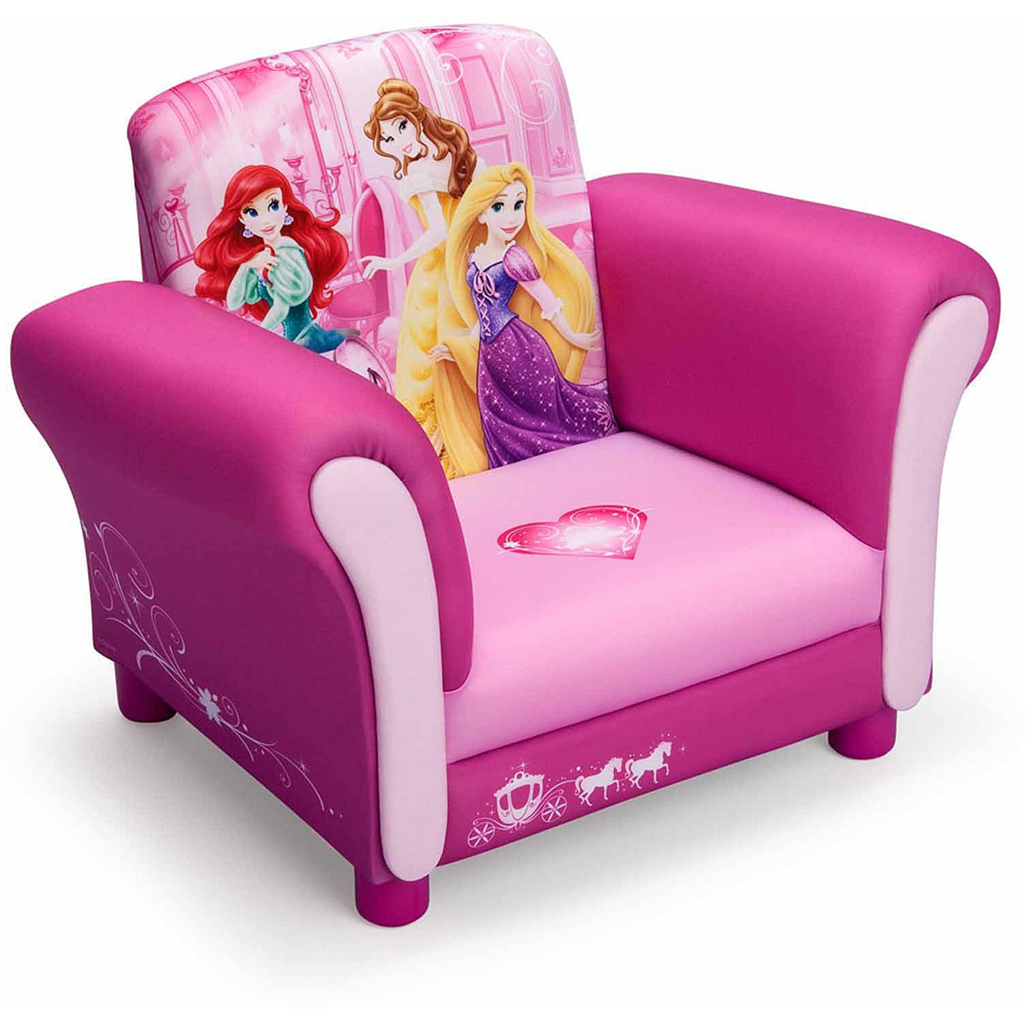 Delta Children Princess Upholstered Chair – Walmart With Disney Princess Couches (View 16 of 20)