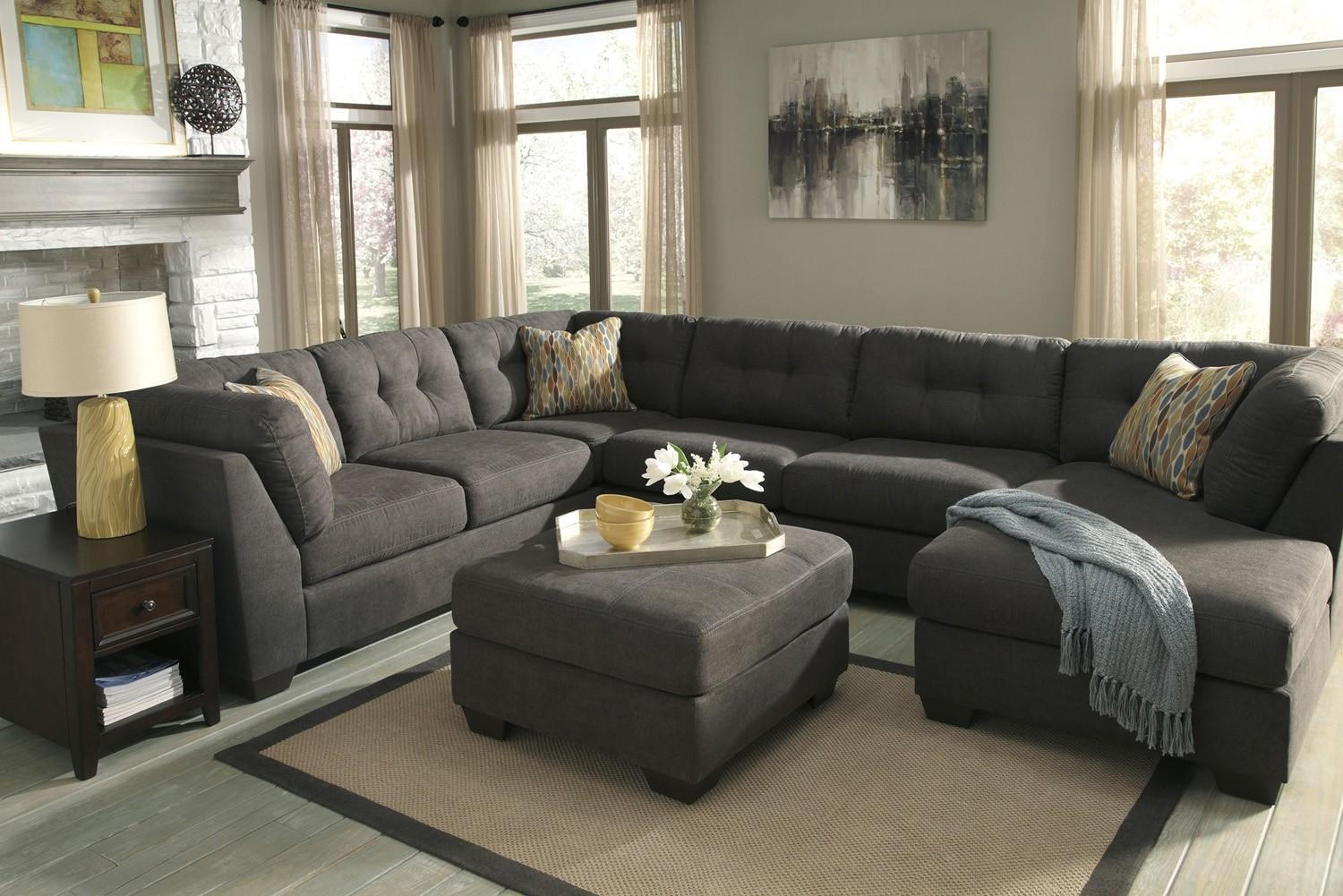 Delta City Steel 3 Piece Sectional Sofa With Left Arm Facing Pertaining To 3 Piece Sectional Sleeper Sofa (Image 9 of 15)