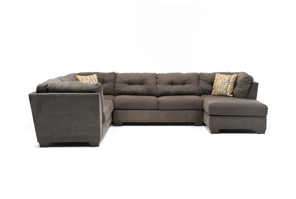 Delta City Steel 3 Piece Sectional W/sleeper & Right Facing Chaise Throughout Sectional With Recliner And Sleeper (Image 5 of 20)