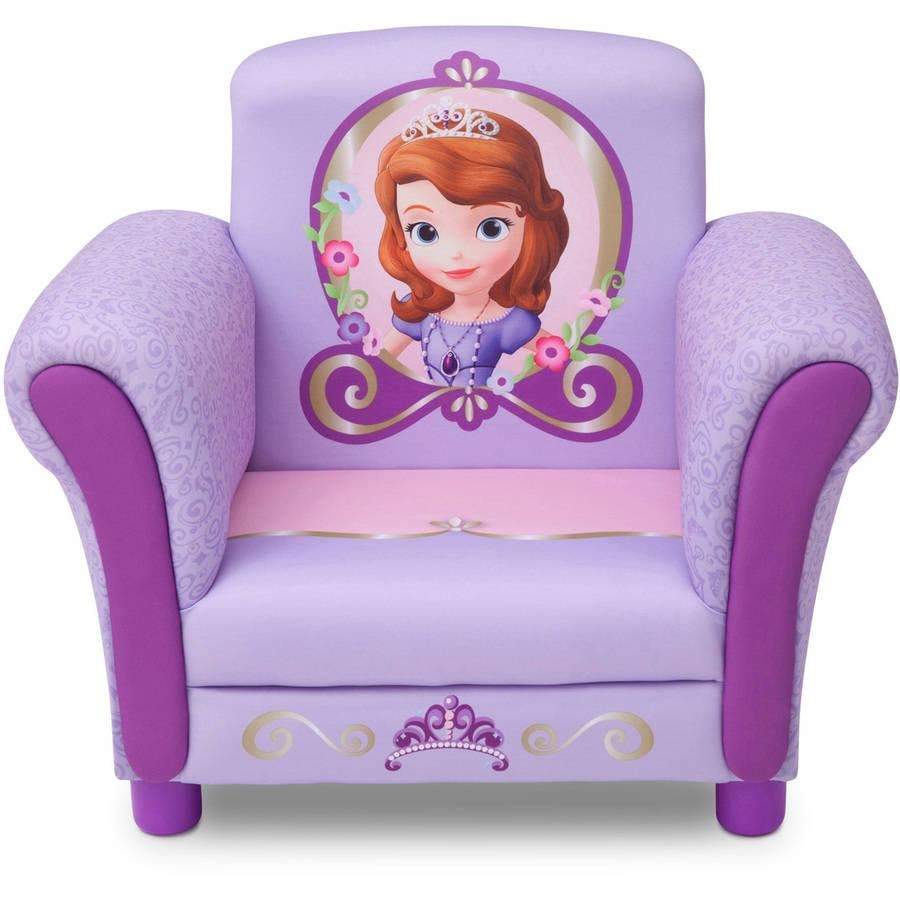 Delta Disney Sophia The First Upholstered Chair, Lavender In Disney Sofa Chairs (Image 1 of 20)