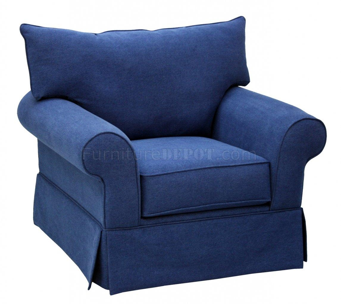 Denim Fabric Modern Sofa & Loveseat Set W/options Within Denim Sofas And Loveseats (Image 5 of 12)