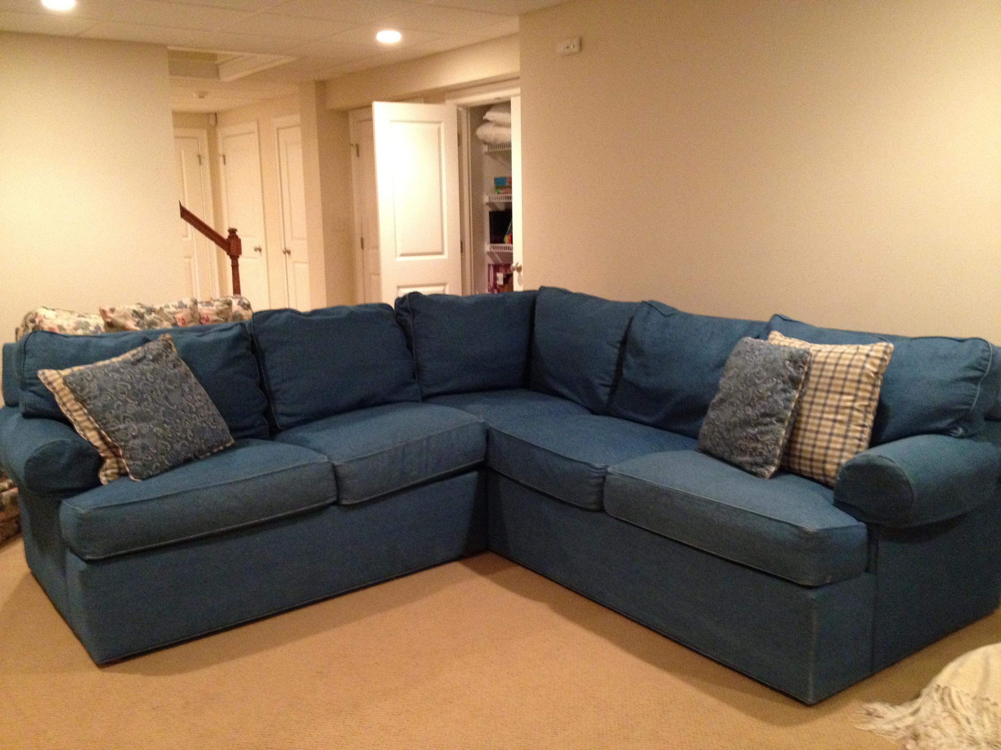 Denim Slipcover Sectional Sofa | Tehranmix Decoration With Denim Sofa  Slipcovers (Image 3 Of 20