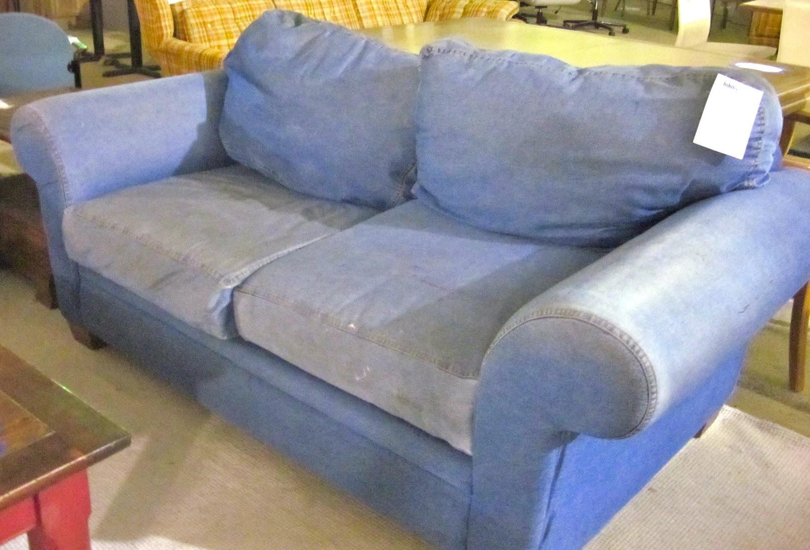 Denim Sofa And Loveseat Denim Fabric Modern Sofa Loveseat Set W Intended For Denim Sofas And Loveseats (View 4 of 12)