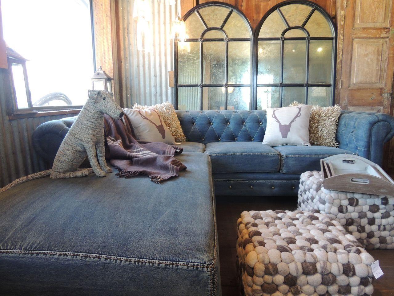 Denim Sofa Cover Ideas | Home And Garden Decor For Denim Sofa Slipcovers (View 13 of 20)