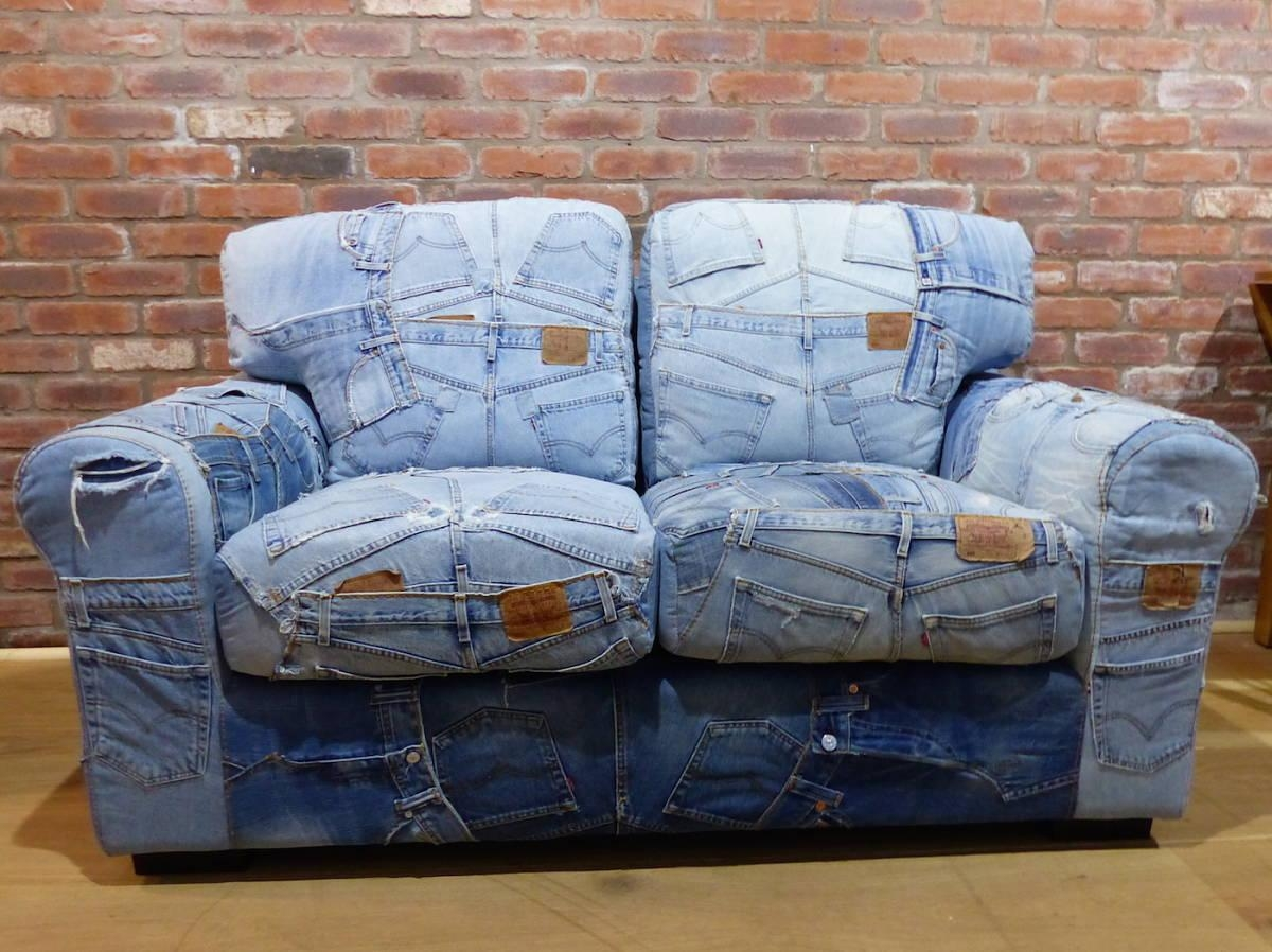 Denim Sofa – Helpformycredit Pertaining To Blue Denim Sofas (Image 8 of 20)