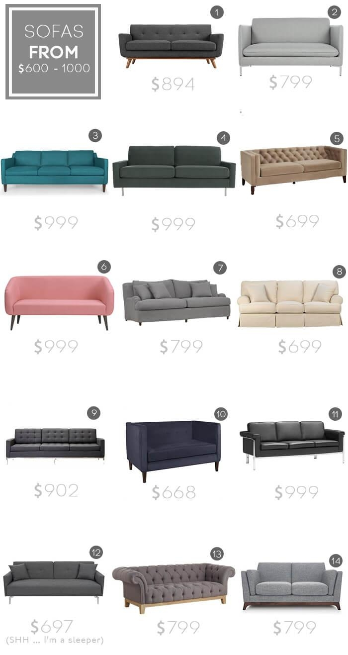 Design Mistake #1: The Generic Sofa – Emily Henderson Regarding Mid Range Sofas (Image 8 of 20)