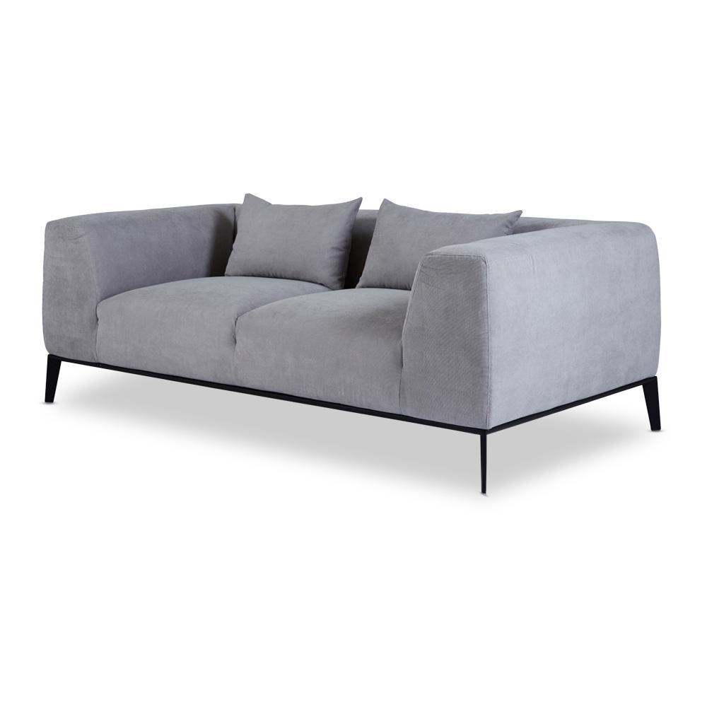 Designer Danielle Grey Sofa  2/3 Seater Scandinavian Inside Modern 3 Seater Sofas (Image 4 of 20)