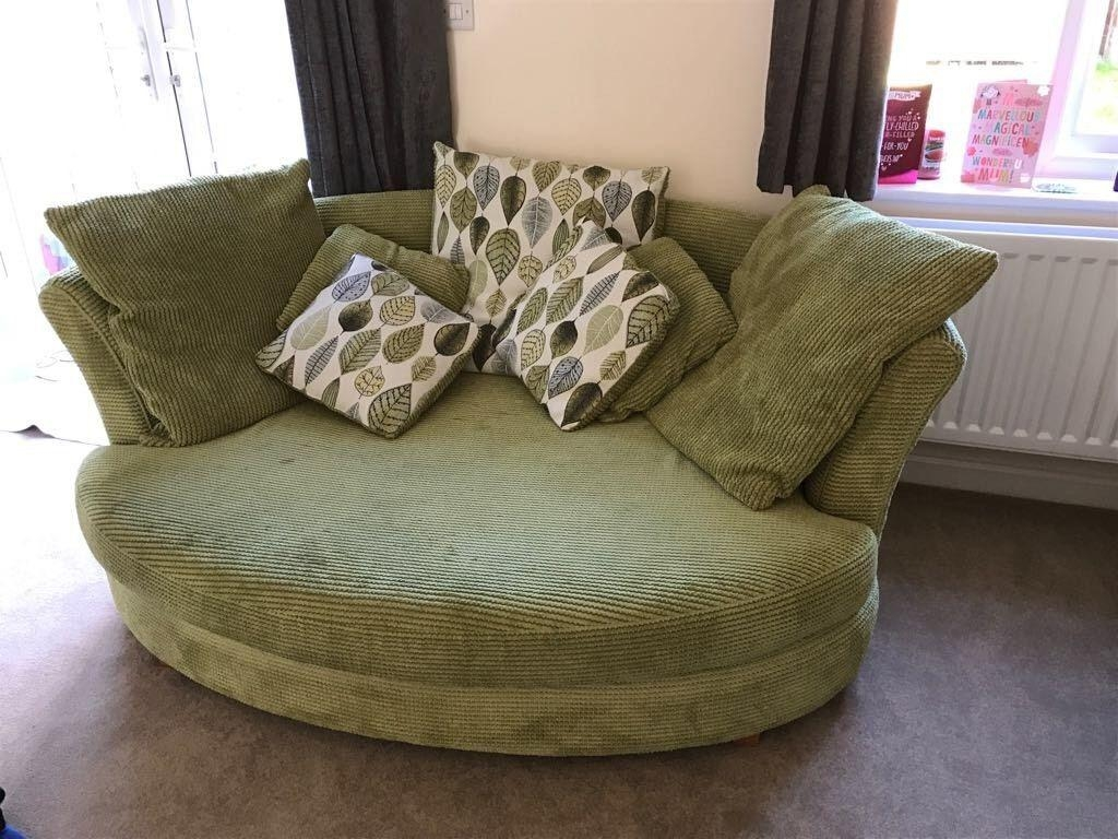 Dfs L Shape Sofa & Snuggle Chair | In Winchester, Hampshire | Gumtree Throughout Snuggle Sofas (Image 5 of 20)