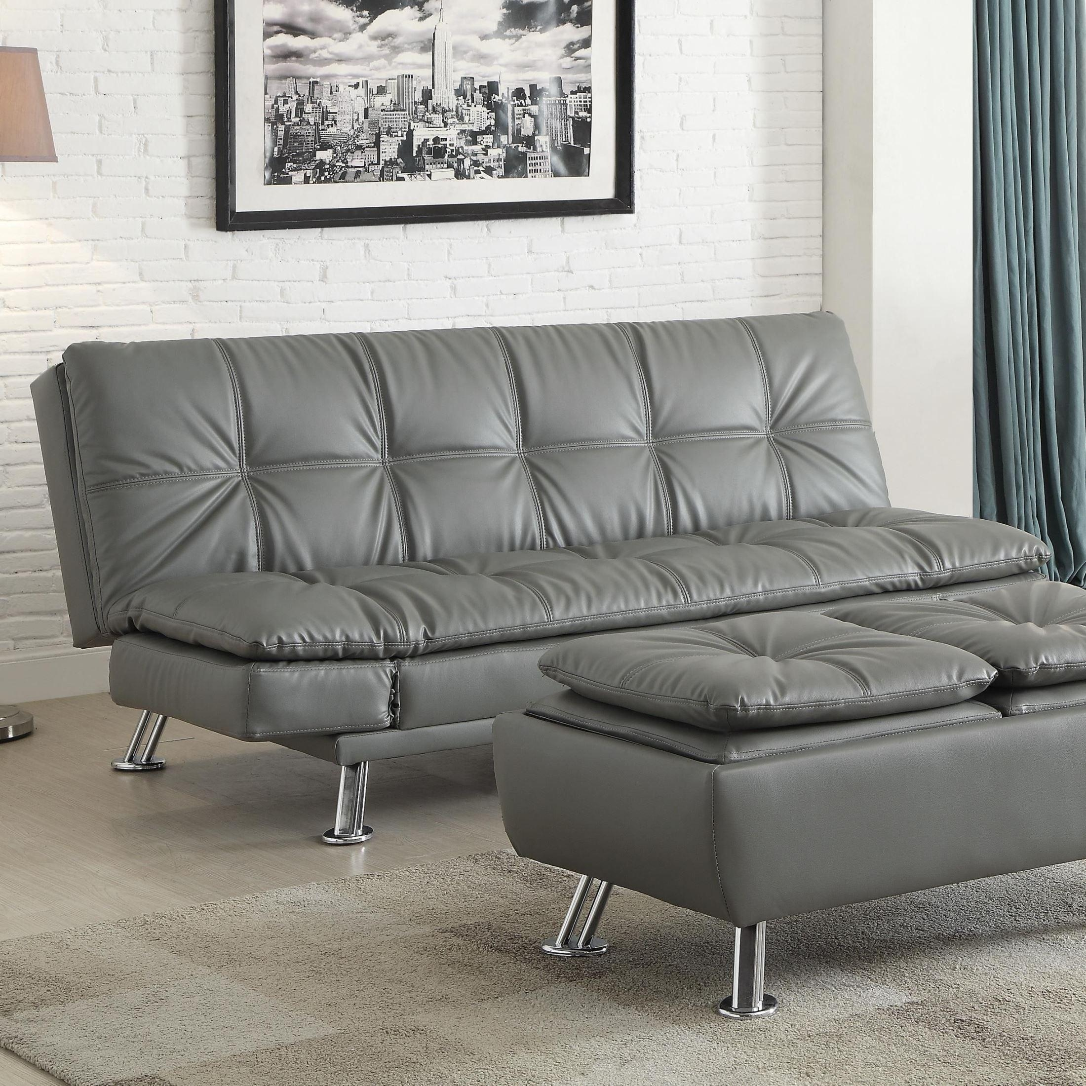 Dilleston Futon Style Living Room Set From Coaster (500096 Intended For Coaster Futon Sofa Beds (View 14 of 20)