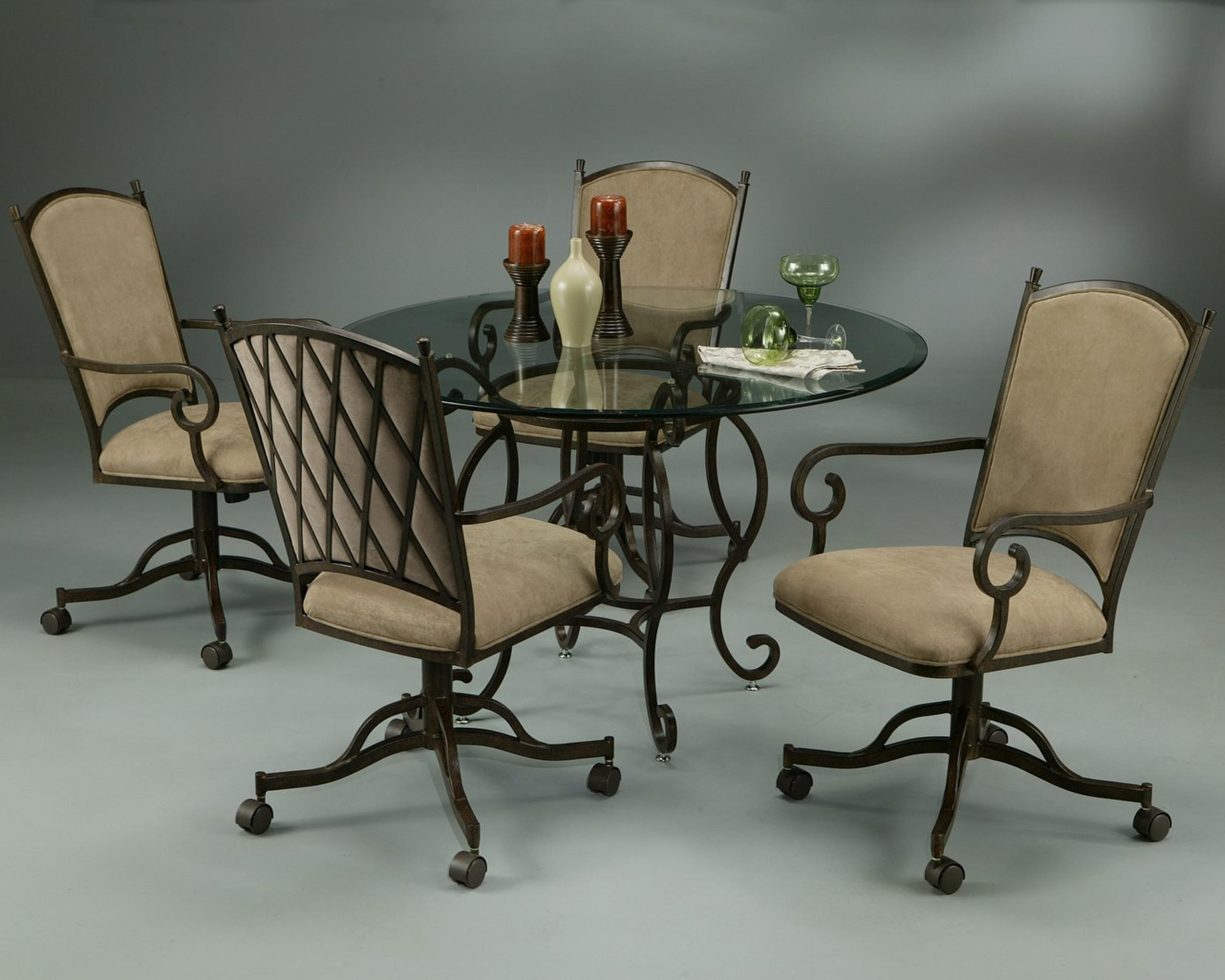 Dining Table With Atrium Caster Chairs with Casters Sofas