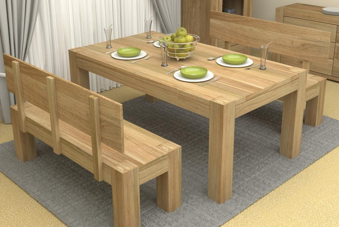 Dining Table With Benches (Image 12 of 20)