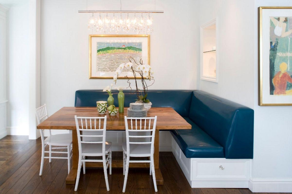 Dining Tables : Dining Table Set With Bench Long Narrow Dining In Blue Sofa Tabless (Image 13 of 20)
