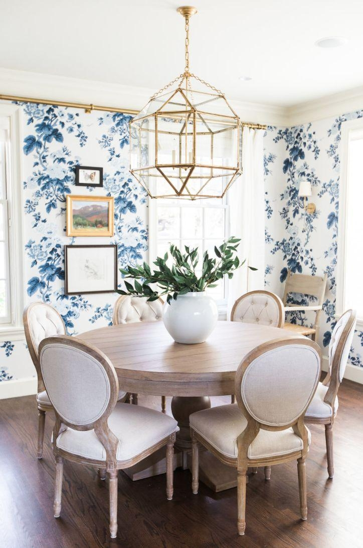 Dining Tables : Round Table Dining Room Sets Small Contemporary Intended For Blue Sofa Tabless (View 7 of 20)