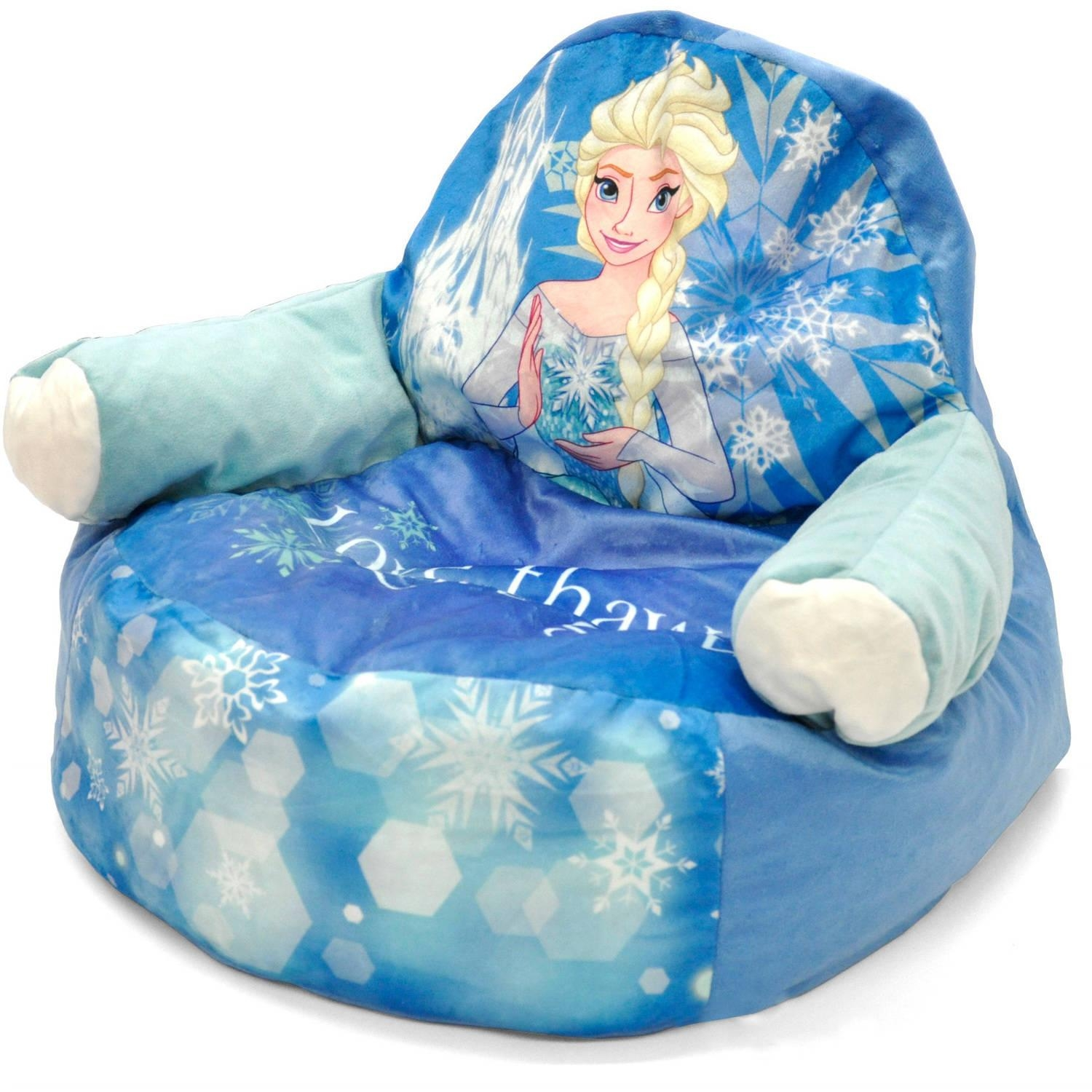 Disney Frozen Sofa Bean Bag Chair With Piping – Walmart Inside Disney Sofa Chairs (Image 2 of 20)