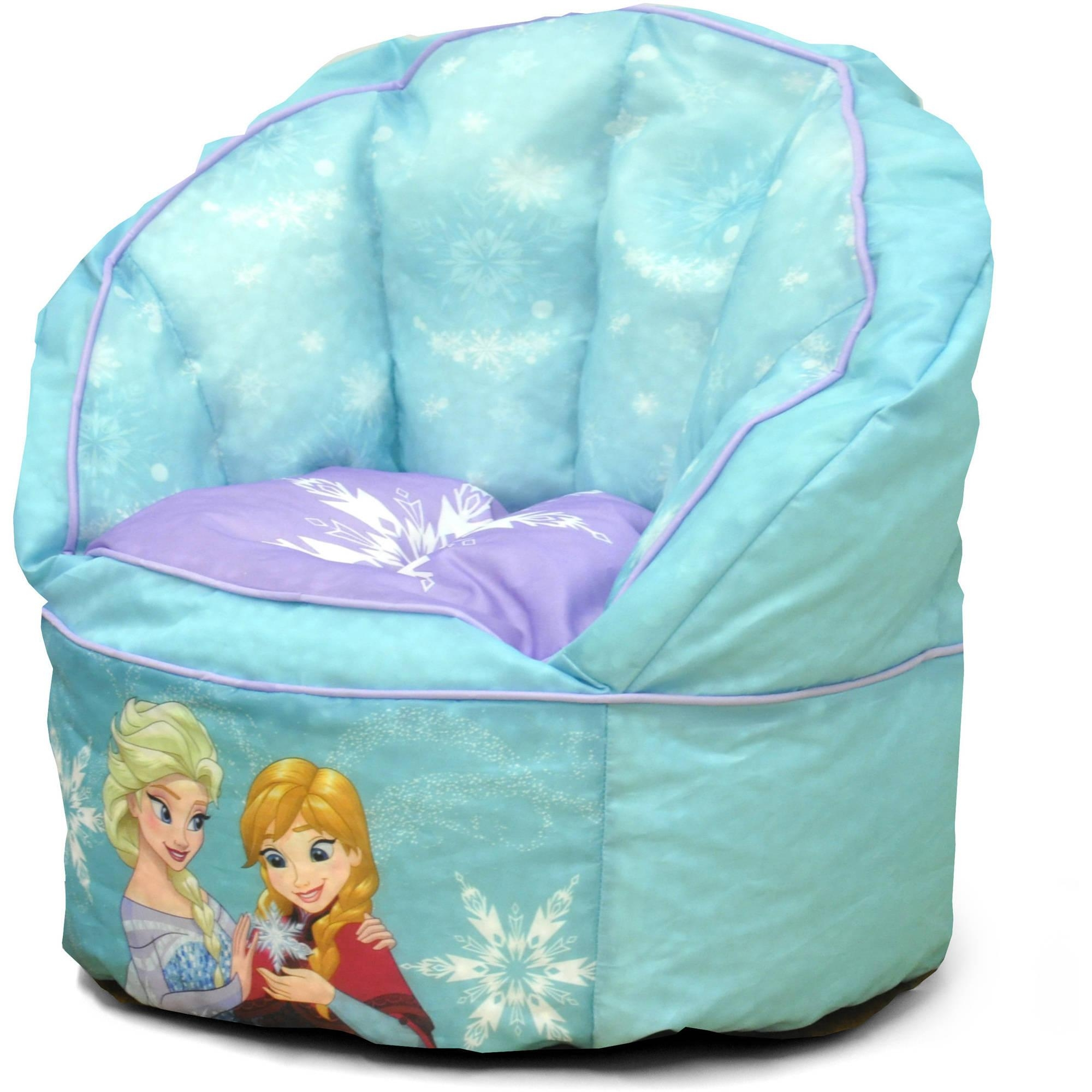 Disney Frozen Sofa Bean Bag Chair With Piping – Walmart With Disney Sofa Chairs (View 14 of 20)