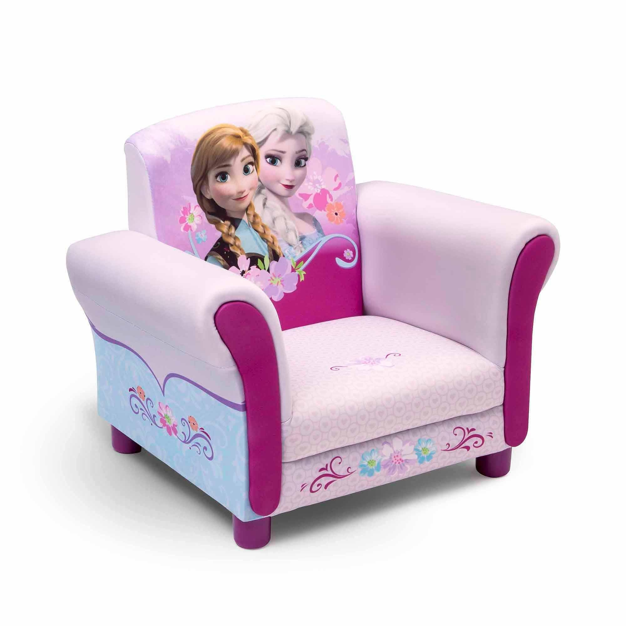 Disney Frozen Upholstered Chair – Walmart Pertaining To Toddler Sofa Chairs (Image 4 of 20)