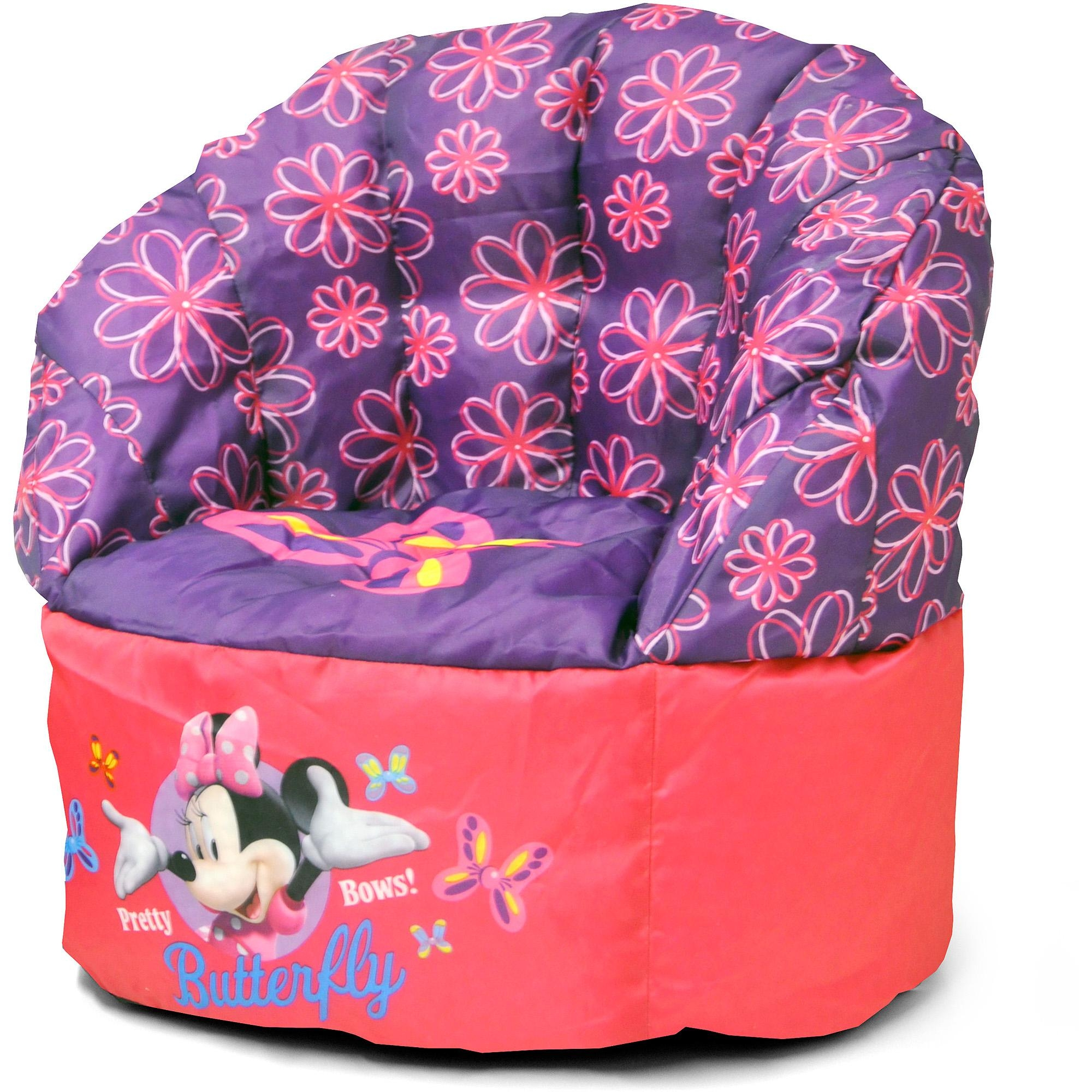 Disney Minnie Mouse Sofa Bean Chair – Walmart With Regard To Disney Sofa Chairs (Image 6 of 20)