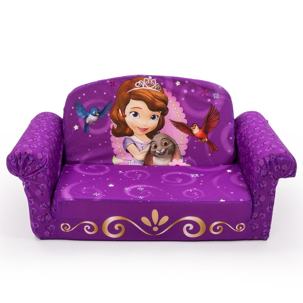 Disney Nickelodeon Marvel Kids Foam Flip Open Sofa Free Shipping Within Disney Sofa Chairs (Image 7 of 20)