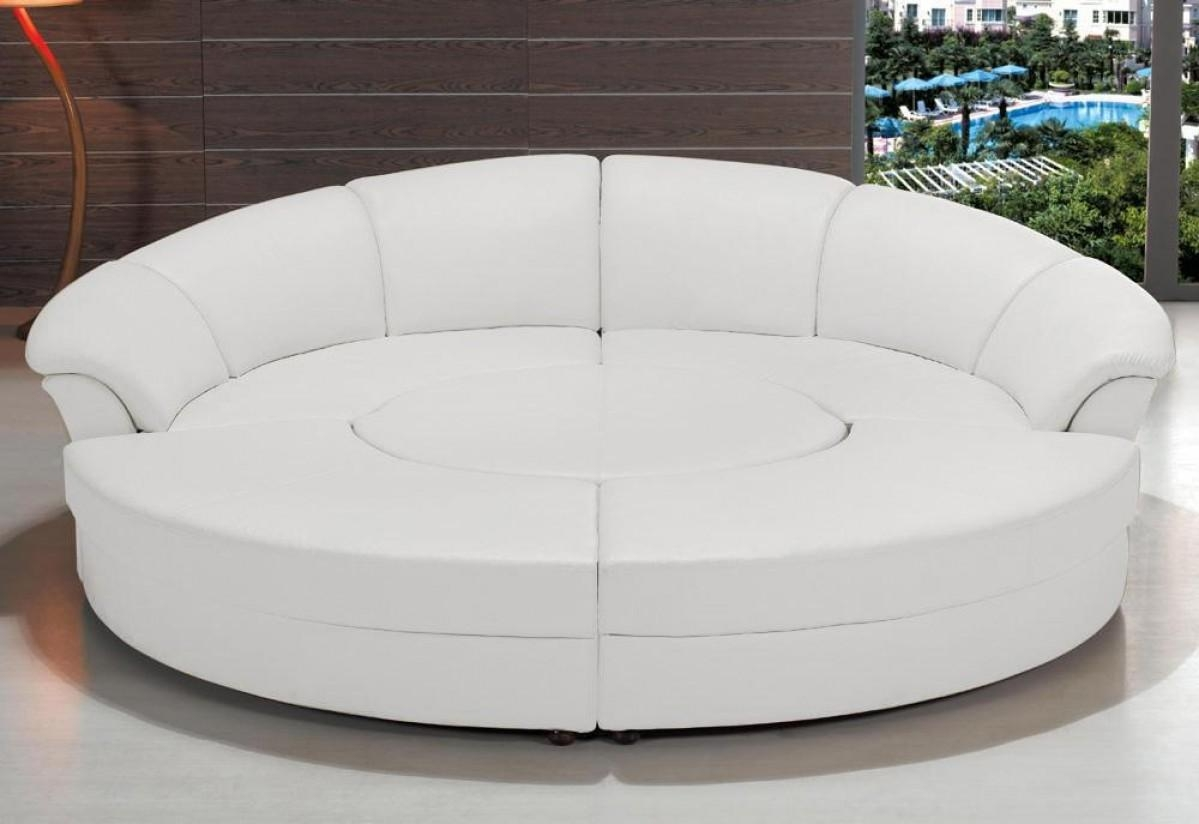Divani Casa Circle – Modern Bonded Leather Circular Sectional 5 Inside Circle Sectional (Image 4 of 15)