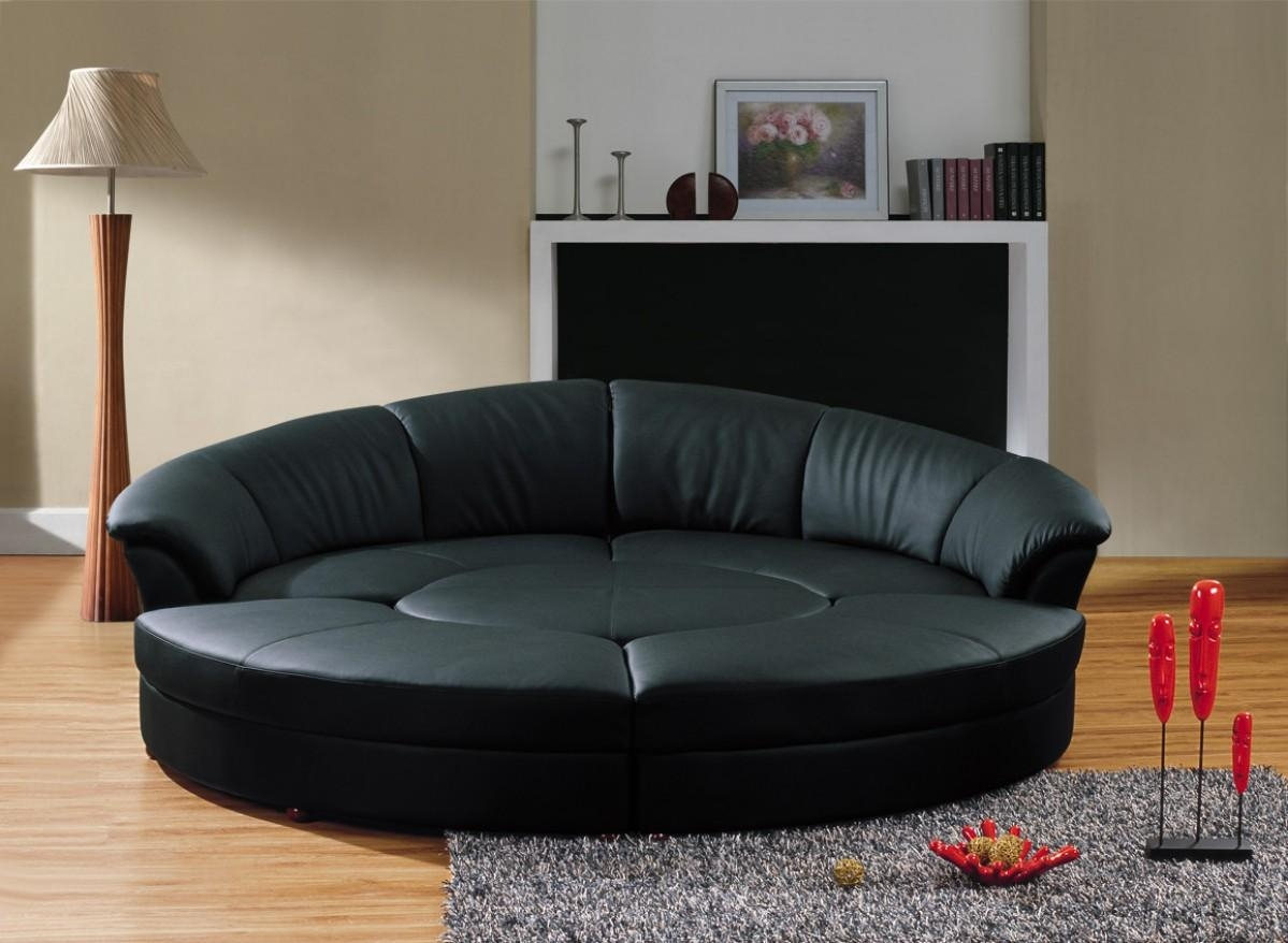 Divani Casa Circle – Modern Leather Circular Sectional 5 Piece Within Circle Sectional (Image 6 of 15)