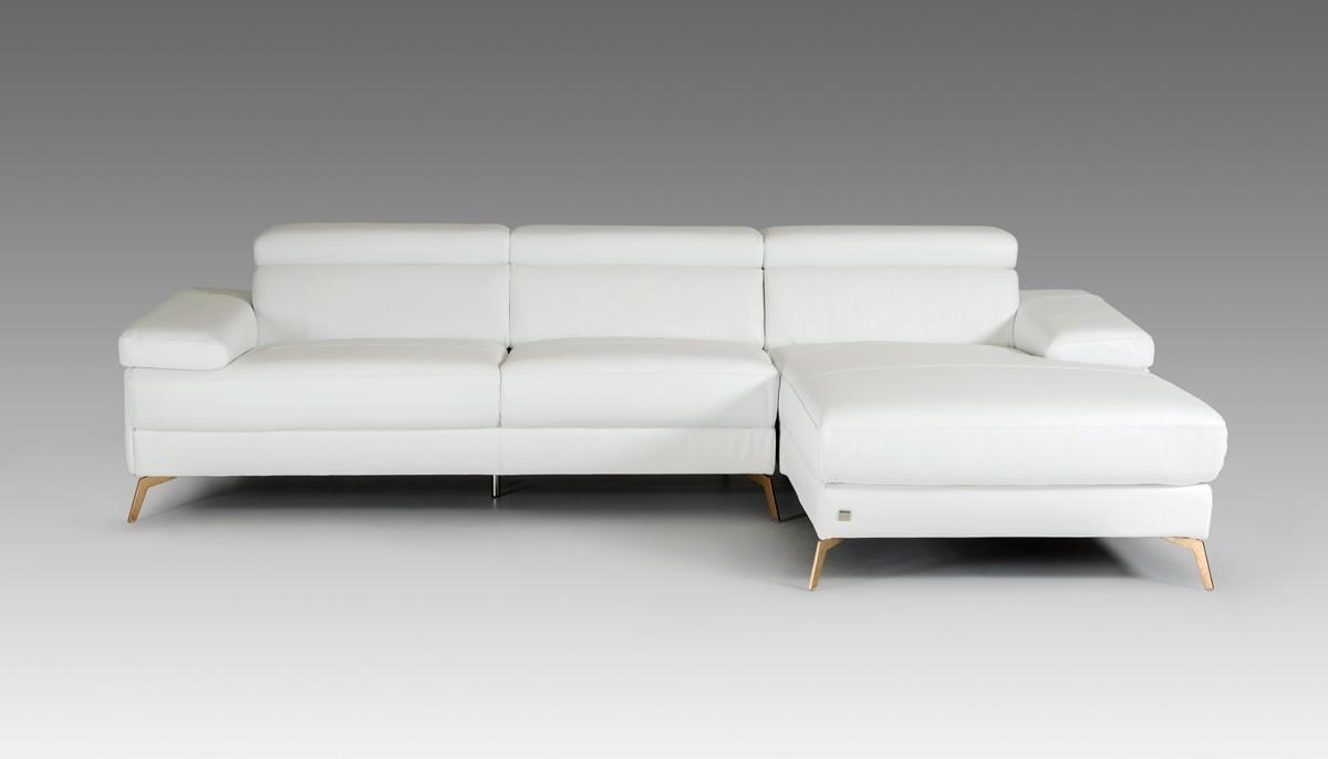 Divani Casa Kayla Modern White Italian Leather Sectional Sofa Inside Italian Leather Sectionals Contemporary (View 19 of 20)