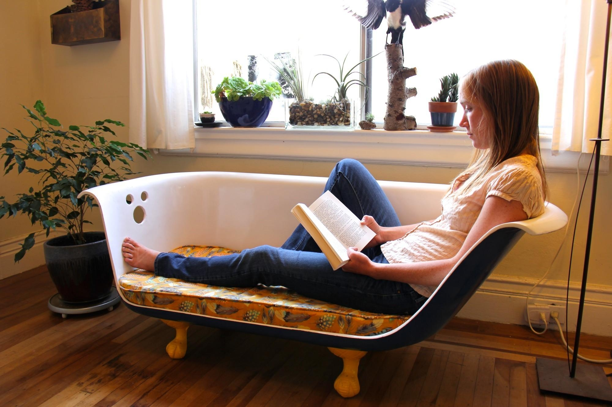Diy Clawfoot Bathtub Couch: 34 Steps (With Pictures) Inside Clawfoot Tub Sofas (View 4 of 20)