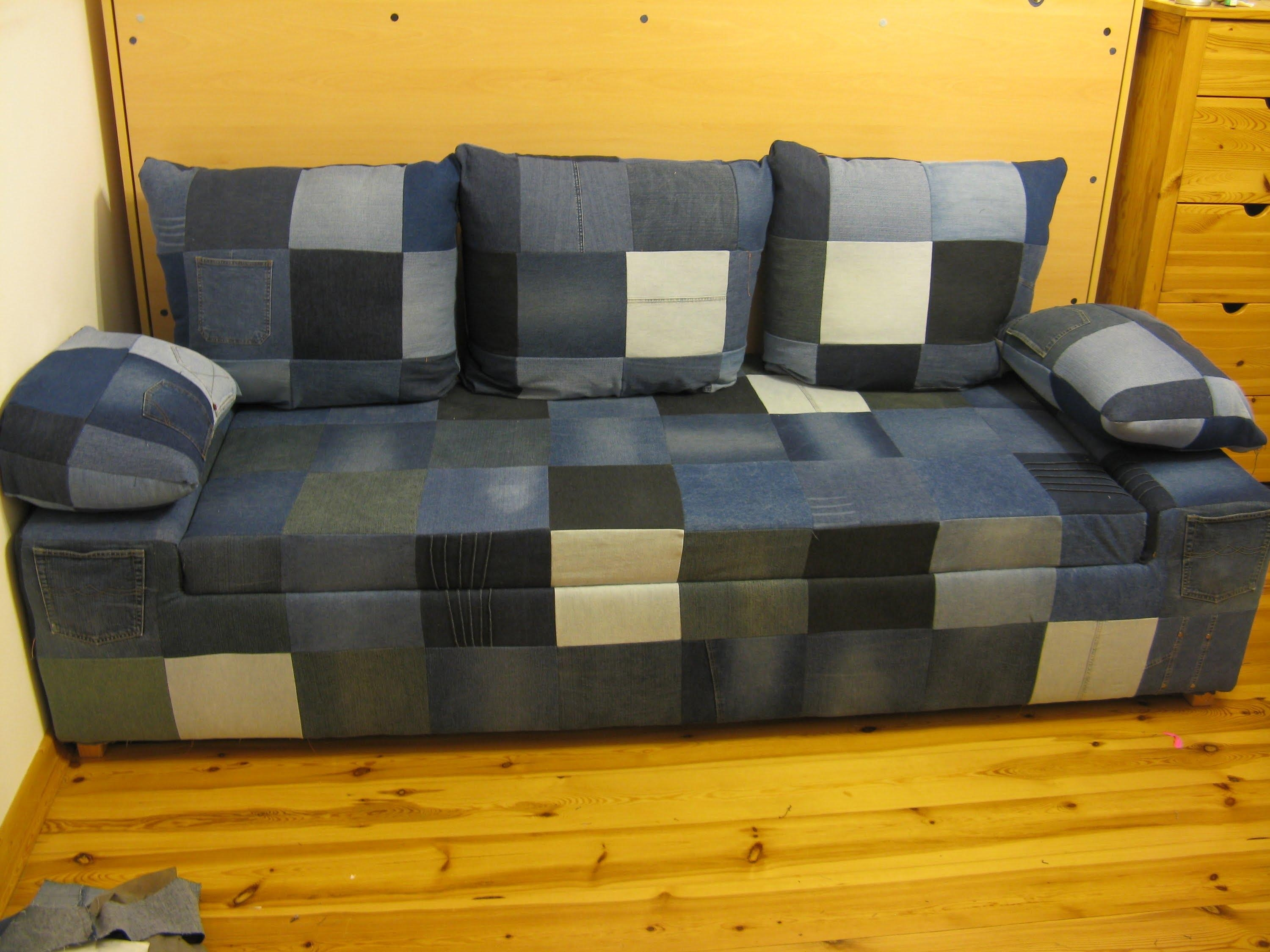Diy Jeans Sofa (View 1 of 20)