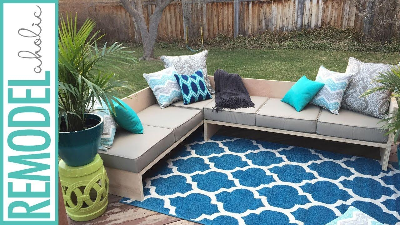 Diy Modern Outdoor Sofa Sectional | #plywoodpretty – Youtube Regarding Cheap Outdoor Sectionals (Image 7 of 15)