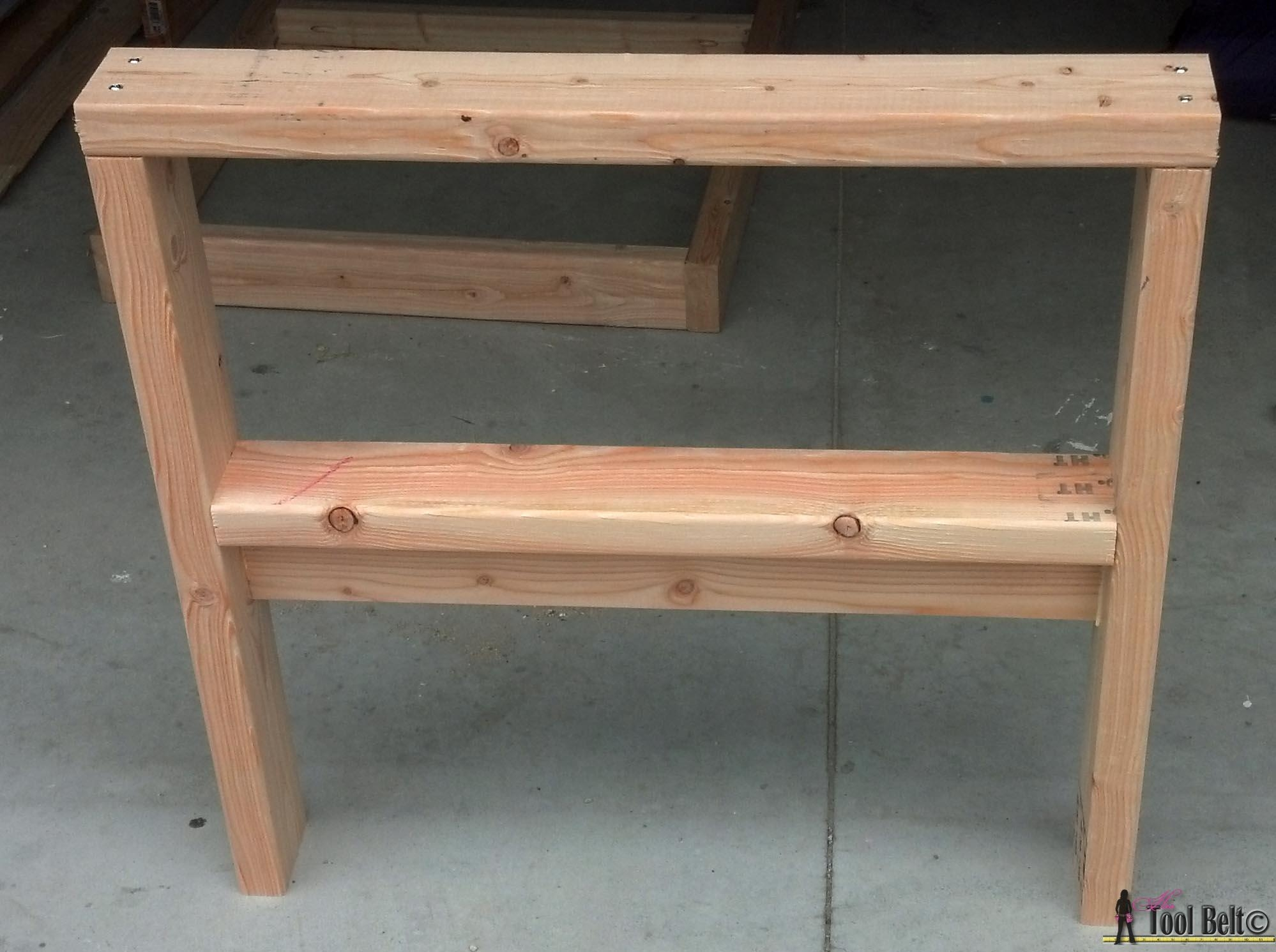 Diy Outdoor Seating – Her Tool Belt Intended For Patio Sofa Tables (View 5 of 20)