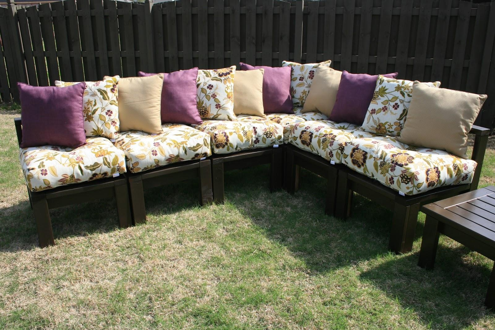 Diy Outdoor Sectional – The 36Th Avenue Pertaining To Building A Sectional Sofa (Image 7 of 15)