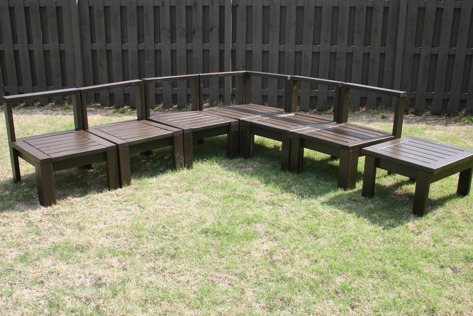 Diy Outdoor Sectional – The 36Th Avenue Regarding Building A Sectional Sofa (Image 8 of 15)