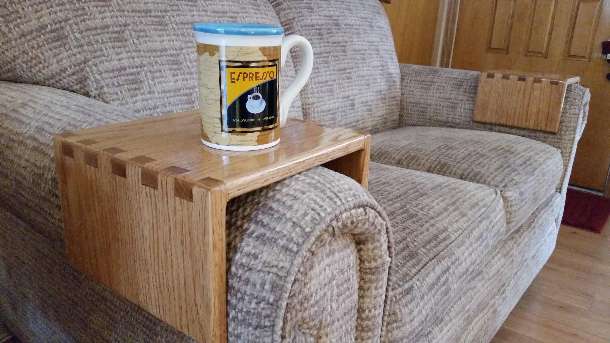 Diy – Sofa Drink Holder Using Simple Box Joints – Youtube Inside Sofa Drink Tables (View 4 of 20)