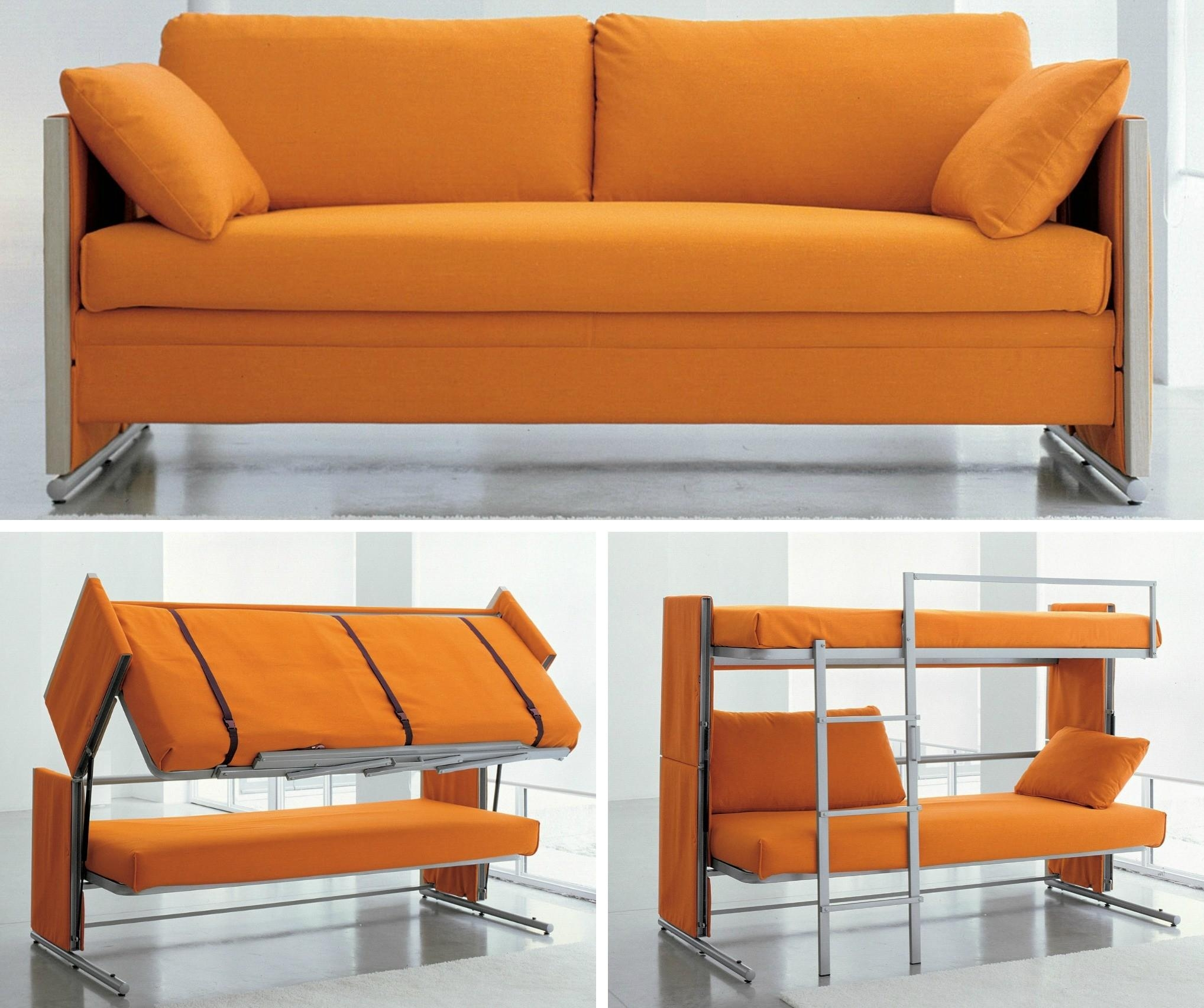 Doc Transforms From Sofa To Bunk Beds With One Swift Motion | 6Sqft Pertaining To Sofa Bunk Beds (Image 10 of 20)